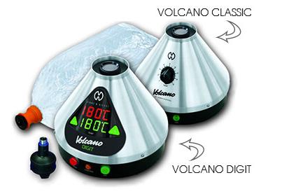 Volcano Desktop Vaporizer styles classic and digital